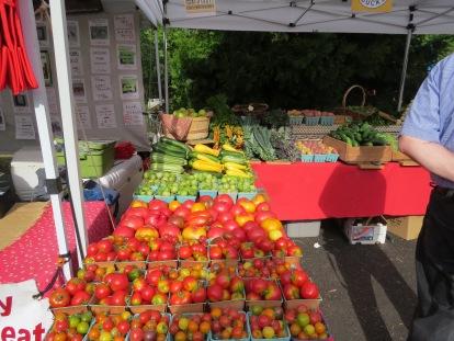Summertime market stand